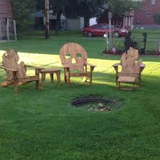Wooden Skull Chair Wooden Skull Deck Chair Home Chair Decoration