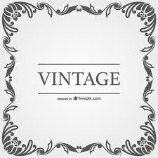 vintage vector ornamental frames vector free vector in