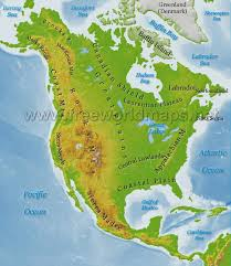 Central America And Caribbean Map by North America Physical Map U2013 Freeworldmaps Net