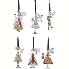 metal dolly friend ornaments happy holidayware