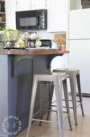 How To Build A Small Kitchen Island How To Update A Builder Grade Kitchen Island With Trim And Paint