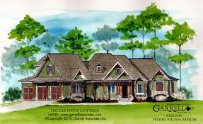 Craftman Style Home Plans by Lakeview Cottage House Plans By Garrell Associates Inc