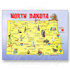North Dakota best travel cards images Map of north dakota the 39th state to enter the union joined on jpg