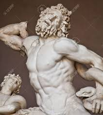 vatican museums rome italy collection of statues stock photo