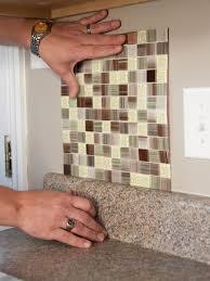 Backsplash Tile Peel And Stick Mosaic Tile Backsplash Reviews - Laying glass tile backsplash