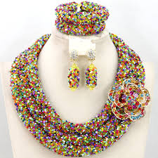 beads necklace sets images Exclusive african beads 6mm and seed beads jewellery sets jpg