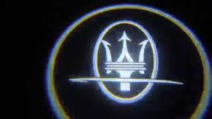 maserati car symbol kit luci led portiera maserati kit led sotto portiere proiettano