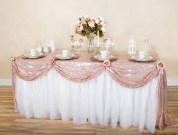 themed table cloth staging table centerpieces diy table scallop staging wills