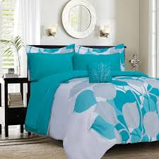 Bedroom King Size Bed Comforter by Sky Blue Teal And White Cotton King Bed Comforter With Black