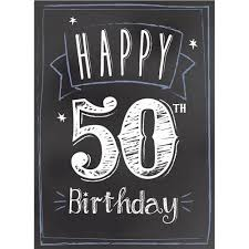 50th birthday cards chalkboard 50th birthday card