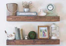 delightful order diy floating shelves