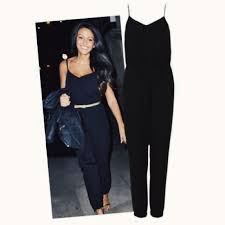 topshop jumpsuit topshop black jumpsuit as seen on keegan size 6 depop