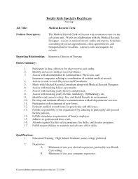Free Sample Resume Examples by Medical Clerk Sample Resume Haadyaooverbayresort Com