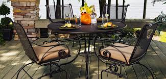 Oval Wrought Iron Patio Table by Wrought Iron Patio Furniture Design U2014 Interior Home Design
