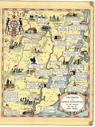 Map Of Nd Map Of The Principal Events In The Life Of George Washington New