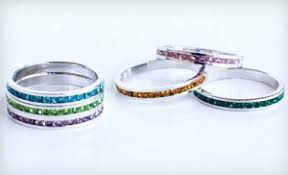rings for mothers day 10 for birthstone colored stackable ring made with swarovski