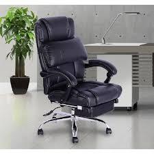 Fauteuil De Bureau Manager Grand Confort Avec Repose Pieds Noir 72 Chaise De Bureau Confortable