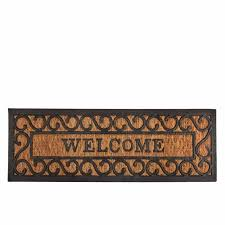 Coir And Rubber Doormat Esschert Design Usalong Welcome Rubber And Coir Doormat Esschert
