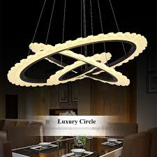 Diy Led Chandelier Nordic Diy Gear Acrylic Ring Led Pendant Chandelier Lighting