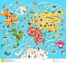 Europe Map Games by Great Map Of The World Maze Game Find The Right Way From Austra