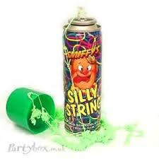 silly string silly string stuff that makes my heart smile