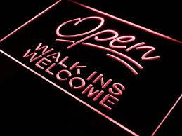 shop open sign lights open walk ins welcome barber shop light sign open walk ins welcome
