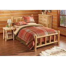 castlecreek cedar log bed queen 235869 bedroom sets at