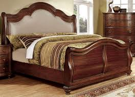 California King Sleigh Bed Bellavista Brown Cherry Cal King Sleigh Bed Sleigh Beds Beds