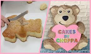 cute teddy bear cake how to youtube