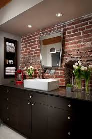 Kitchen Brick Backsplash Rugged And Ravishing 25 Bathrooms With Brick Walls