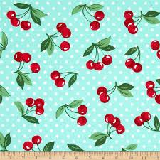 michael miller cherry dot mint discount designer fabric fabric com