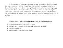 sample summary paragraph sixth grade english language arts