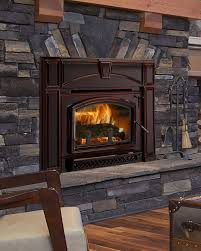 quadra fire voyageur grand wood insert porcelain mahogany coastal