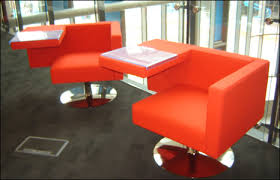comfy library chairs orange library chair with side tables interior design blog