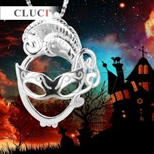 cluci sales black lady mask shape locket pendant for