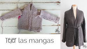 sueter tejido a dos agujas youtube cómo tejer chaqueta de bebé adulto dos agujas parte iii mangas
