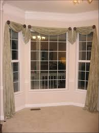 Bay Window Valance Living Room Marvelous Kitchen Drapes Dining Room Curtains And