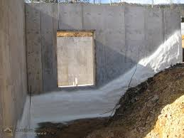Seal Concrete Walls Basements Rough Plumbing Concrete And Insulation Custom Timber Log Homes