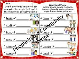 nouns posters and worksheets farm theme community helpers theme