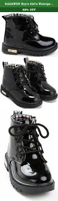 s lace up boots size 11 dadawen boy s s waterproof lace up boots black us size 11 m