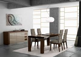 colorful modern dining room z shaped chairs rounded motive