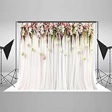 photo booth background 7x5ft cotton polyester printed colorful flowers white