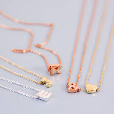 intial necklace mini letter initial necklace by j s jewellery notonthehighstreet