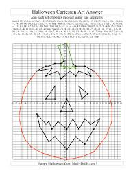 4 Quadrant Graphing Worksheets Halloween Cartesian Art To Print The Cartesian Art Halloween