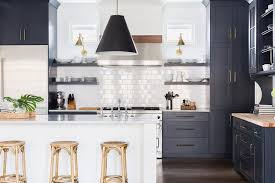 navy blue kitchen cabinets with black handles alyssa rosenheck blue shaker kitchen cabinets with