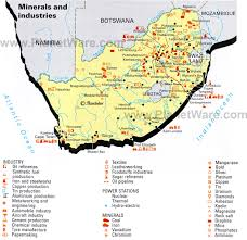 Map Of South Map Of South Africa Minerals And Industries Planetware
