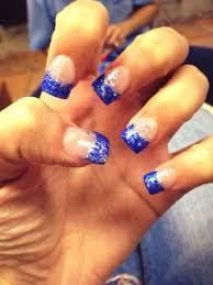 nail art blue and white nail art design nail art pinterest