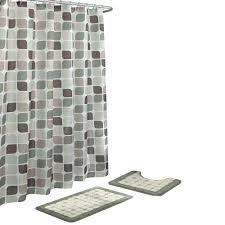 Gray Bathroom Rug Sets Bath Fusion Zaragoza Sage Berber 15 Piece Bath Rug And Shower