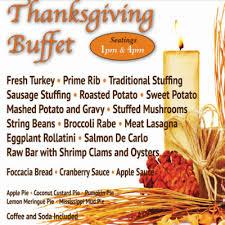 thanksgiving buffet at buona sera ristorante bar best of nj