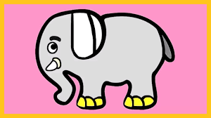 learn colors with elephant coloring tutorial how to color an